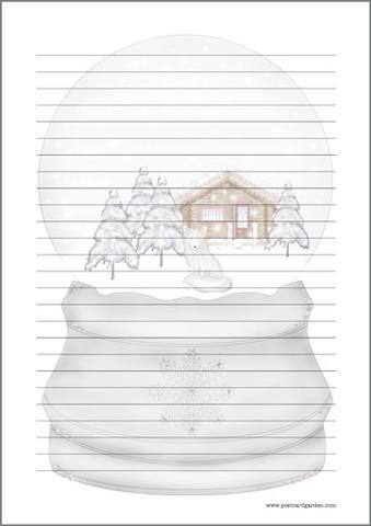 Lumisadepallo - kirjepaperit (A4, 10s)