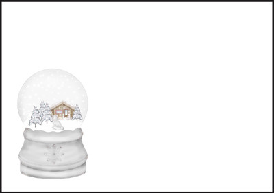 Lumisadepallo - kirjekuori (C6)