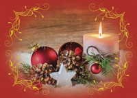 Christmas postcard - Flame atmosphere #1