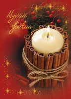 Christmas postcard - Flame atmosphere #6