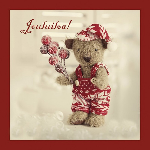 Christmas postcard - Teddy bears #2