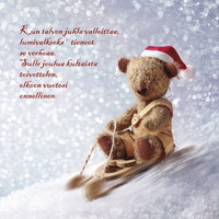 Christmas postcard - Teddy bears #4