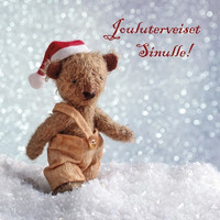 Christmas postcard - Teddy bears #6