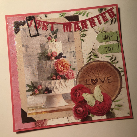 Handmade Just married - card #1