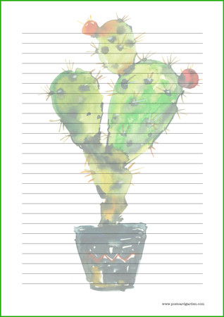 Cactus - writing papers (A4, 10s) #1