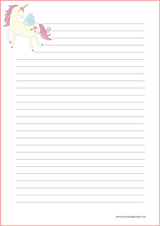 Unicorn - writing papers (A4, 10s) #1