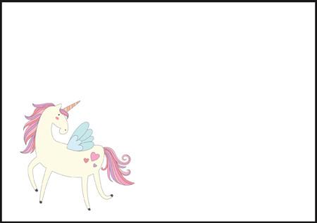 Unicorn - envelope (C6) #1