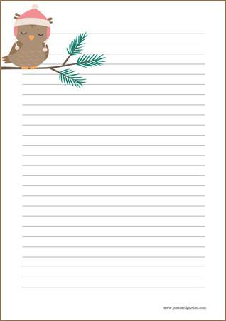 Pöllö - kirjepaperit (A4, 10s) #1