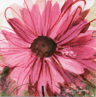 Little square card - Gerbera