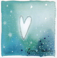 Little square card - Turquoise heart