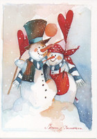 Minna Immonen - Snowman couple