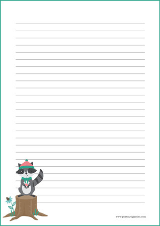 Raccoon - writing papers (A4, 10s) #1
