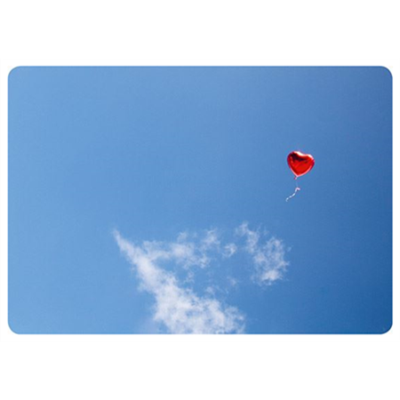Heart balloon in the air
