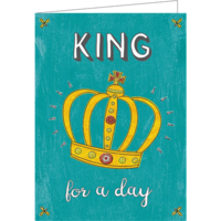 King for a day (9.7x13.3cm, 2-os, sis. kuoren)