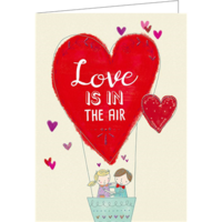 Love is in the air (9.7x13.3cm, incl. envelope)