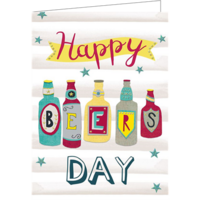 Happy beers day (9.7x13.3cm, 2-os, sis. kuoren)