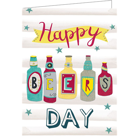 Happy beers day (9.7x13.3cm, incl. envelope)