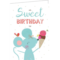 Sweet Birthday (9.7x13.3cm, incl. envelope)