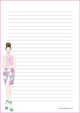 Nainen - kirjepaperit (A5, 10s)