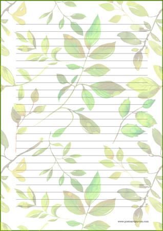 Kasvit - kirjepaperit (A4, 10s) #2