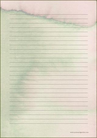 Vesiväri - kirjepaperit (A5, 10s) #3