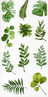 Green leaves (10x19.5cm) #1
