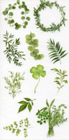 Green leaves (10x19.5cm) #2