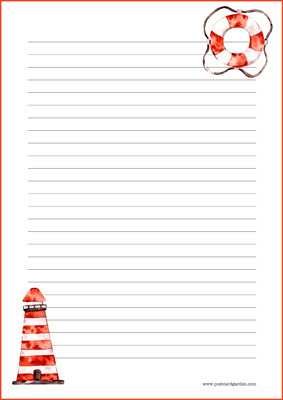 Lighthouse - writing papers (A4, 10s) #1