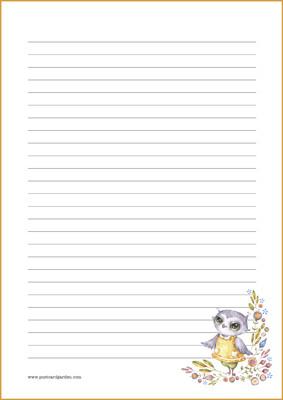 Pöllö - kirjepaperit (A4, 10s) #2
