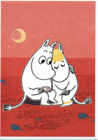 Moomintroll and Snipe on the beach