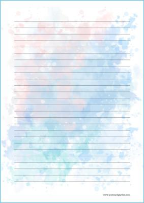 Vesiväri - kirjepaperit (A5, 10s) #5