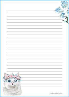Kissa - kirjepaperit (A4, 10s) #2