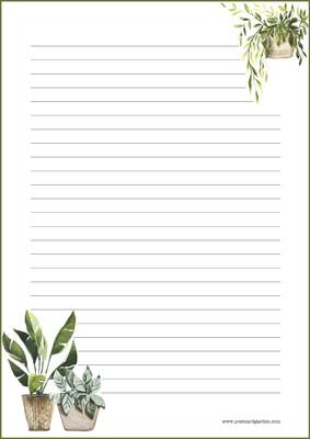 Kasvit - kirjepaperit (A5, 10s) #3