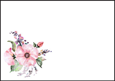 Kukka - kirjekuori (C6) #2