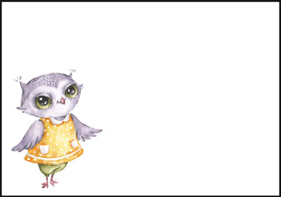 Owl - envelope (C6) #3