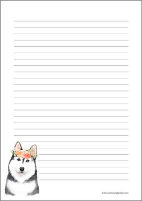 Koira - kirjepaperit (A5, 10s) #1