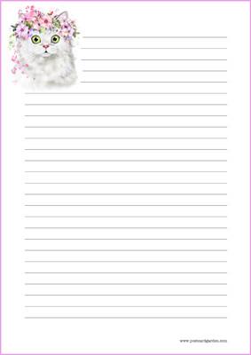 Kissa - kirjepaperit (A5, 10s) #4