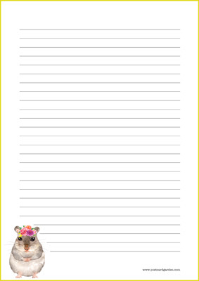 Hamster - writing papers (A4, 10s) #1