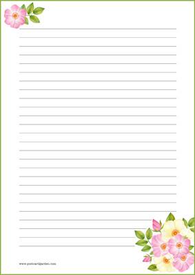 Ruusut - kirjepaperit (A5, 10s) #1