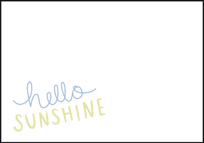 Hello sunshine - envelope (C6) #1