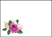 Rose - envelope (C6) #2