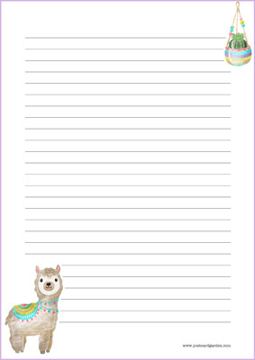 Llama - writing papers (A5, 10s) #2