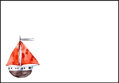 Boat - envelope (C6) #2