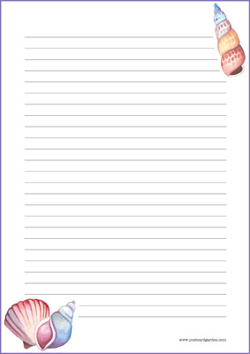 Simpukka -kirjepaperit (A4, 10s) #1