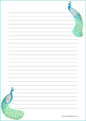 Peacock - writing papers (A4, 10s) #2