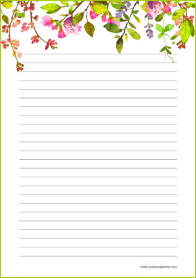 Kukat - kirjepaperit (A4, 10s) #5