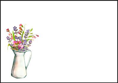 Kukkamaljakko - kirjekuori (C6) #2