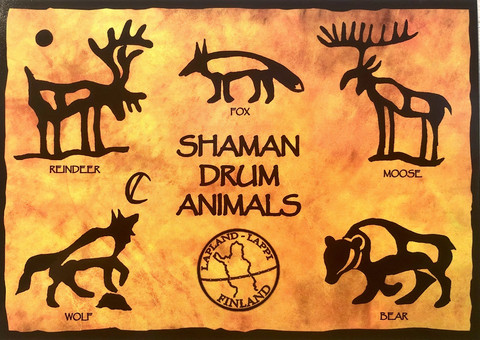 Shaman drum animals