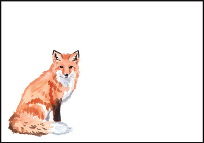 Fox - envelope (C6) #2
