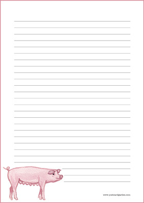 Pig - writing papers (A4, 10s) #1